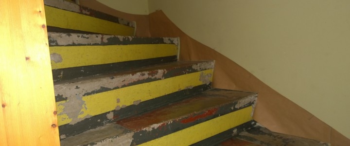 Sanierung einer alten Steintreppe