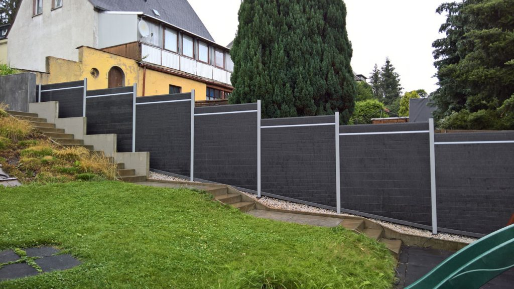 Grundstucks Zaun Holzi
